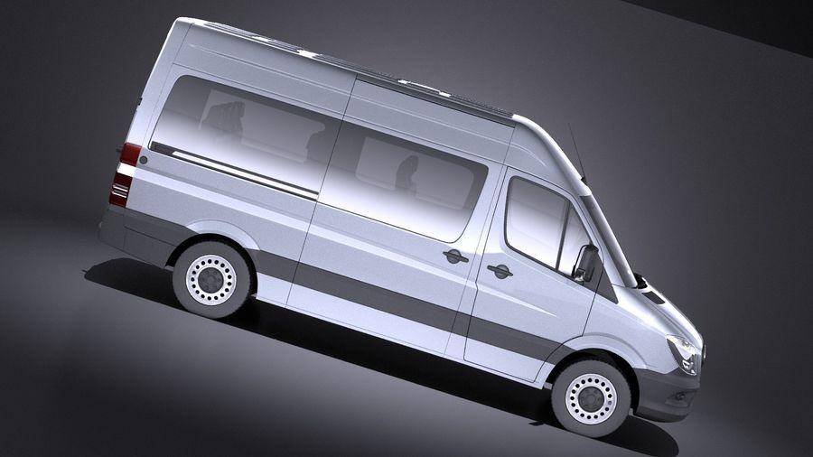 Mercedes-Benz Sprinter Passenger Van 2017 VRAY royalty-free 3d model - Preview no. 7