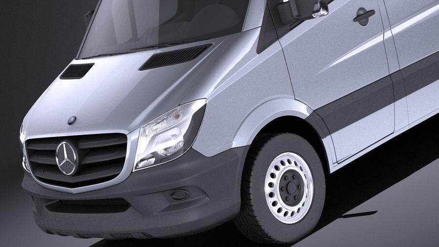 Mercedes-Benz Sprinter Passenger Van 2017 VRAY royalty-free 3d model - Preview no. 3