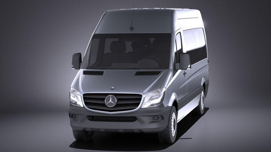 Mercedes-Benz Sprinter Passenger Van 2017 VRAY royalty-free 3d model - Preview no. 2