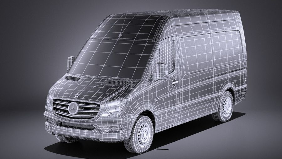 Mercedes-Benz Sprinter Passenger Van 2017 VRAY royalty-free 3d model - Preview no. 15