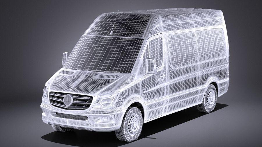 Mercedes-Benz Sprinter Passenger Van 2017 VRAY royalty-free 3d model - Preview no. 13