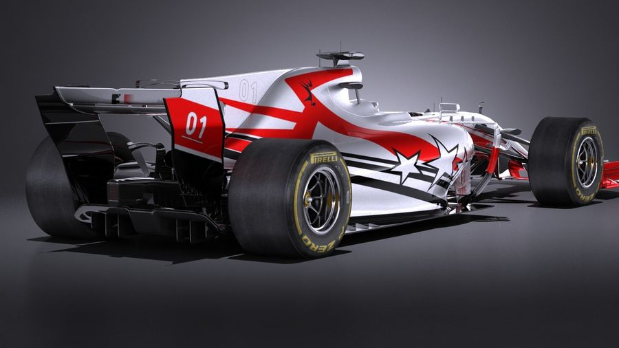 F1 2017 royalty-free 3d model - Preview no. 6
