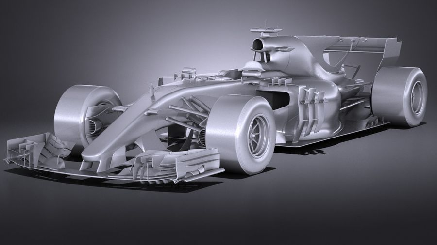 F1 2017 royalty-free 3d model - Preview no. 12