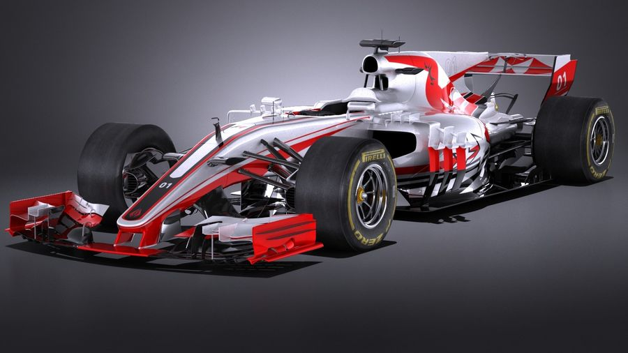 F1 2017 royalty-free 3d model - Preview no. 1