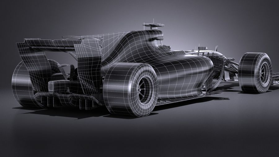 F1 2017 royalty-free 3d model - Preview no. 19