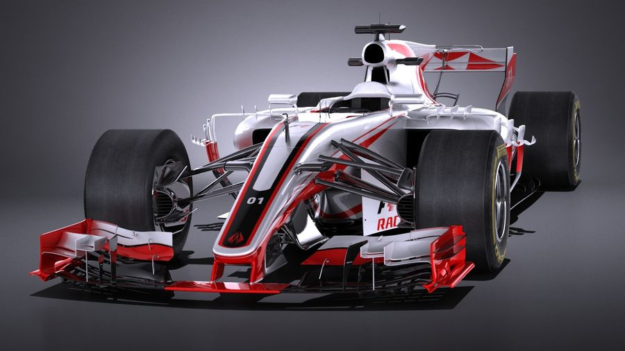 F1 2017 royalty-free 3d model - Preview no. 2