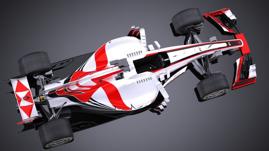 F1 2017 royalty-free 3d model - Preview no. 8