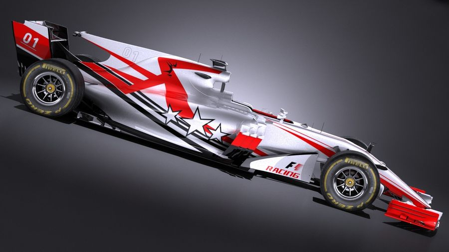 F1 2017 royalty-free 3d model - Preview no. 7