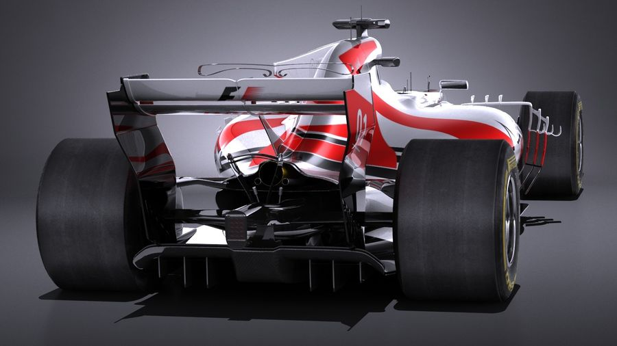 F1 2017 royalty-free 3d model - Preview no. 5