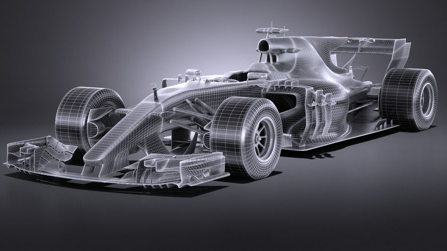 F1 2017 royalty-free 3d model - Preview no. 16