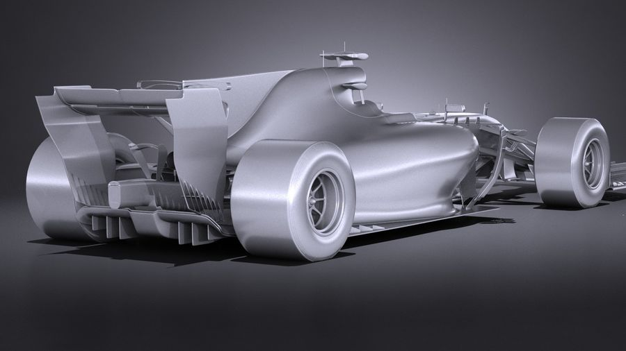 F1 2017 royalty-free 3d model - Preview no. 15