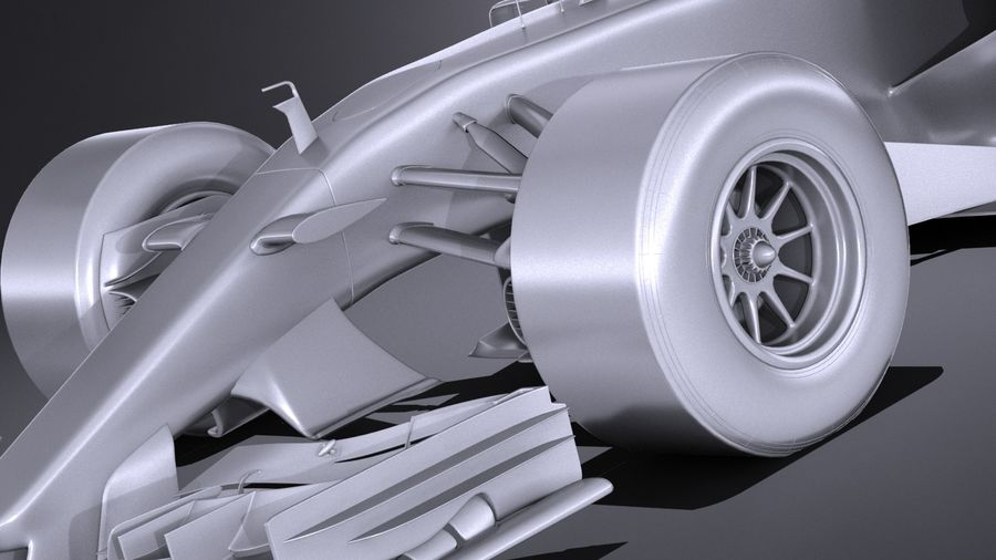 F1 2017 royalty-free 3d model - Preview no. 13