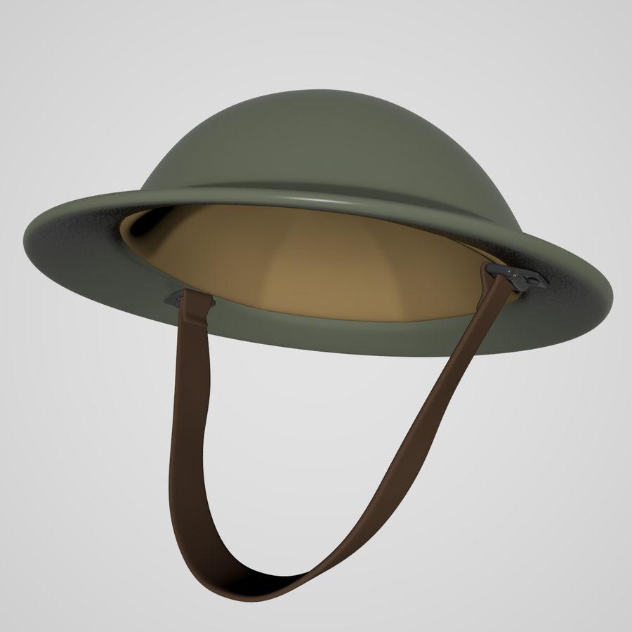 British brodie helmet royalty-free 3d model - Preview no. 1