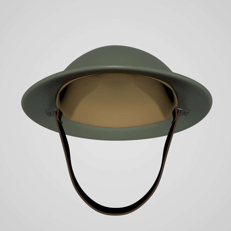 British brodie helmet royalty-free 3d model - Preview no. 2