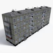 Lowpoly East Europe Building 3 3d model