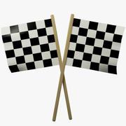 Wyścigi Flagi 3d model