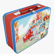 Металлическая коробка для завтрака 05 3d model
