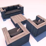 zestaw wypoczynkowy 3d model