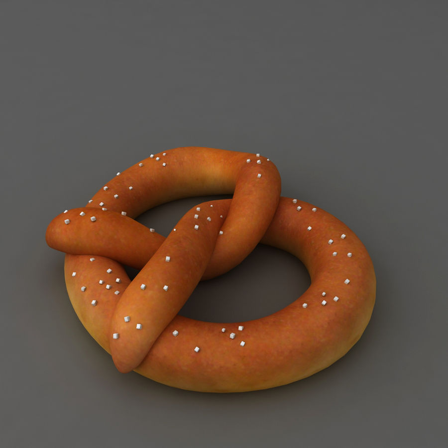 Pretzel mat mellanmål royalty-free 3d model - Preview no. 2