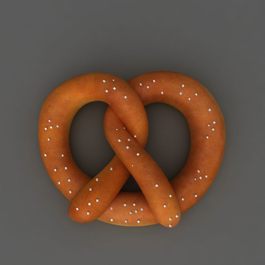 Pretzel mat mellanmål royalty-free 3d model - Preview no. 3