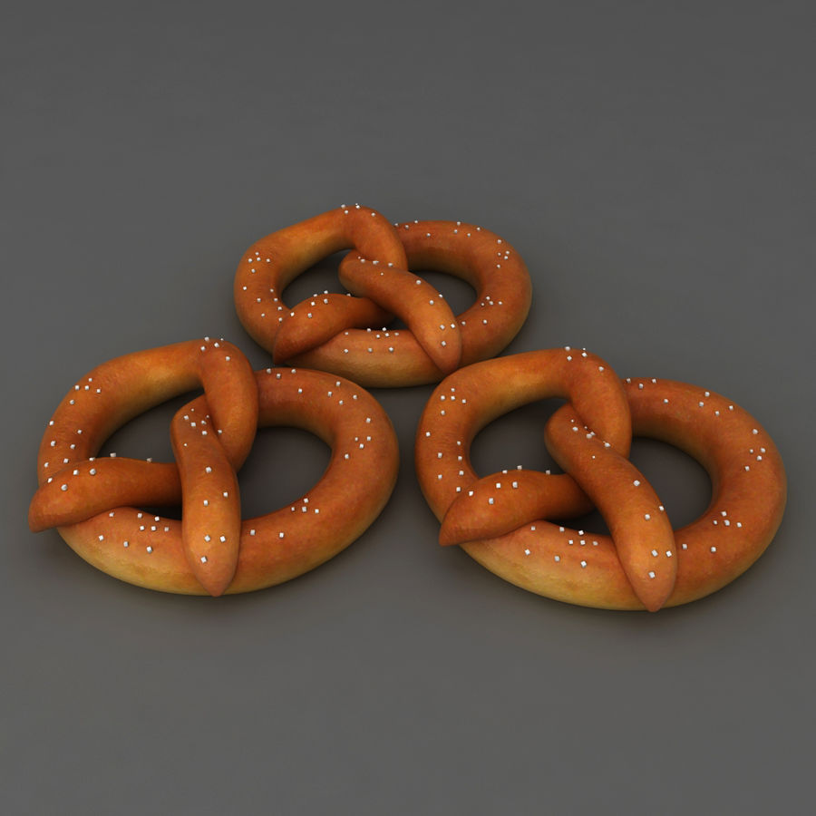 Pretzel mat mellanmål royalty-free 3d model - Preview no. 1