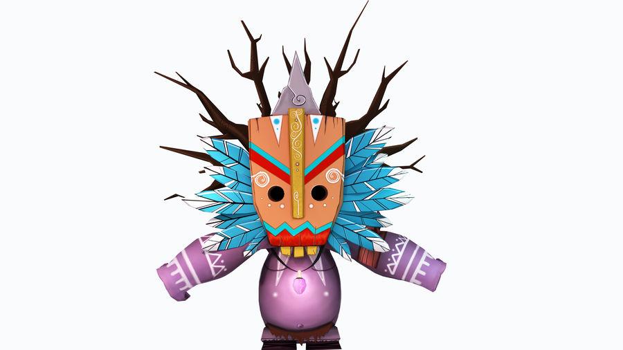 Низкополигональный персонаж (Rigged) royalty-free 3d model - Preview no. 6