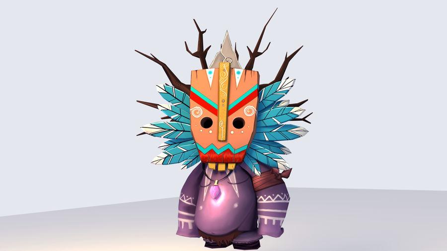 Низкополигональный персонаж (Rigged) royalty-free 3d model - Preview no. 4