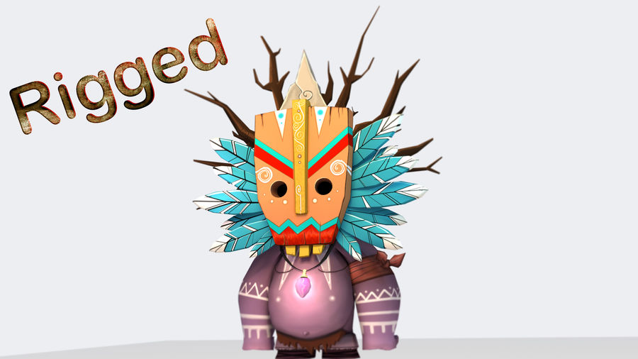Низкополигональный персонаж (Rigged) royalty-free 3d model - Preview no. 2