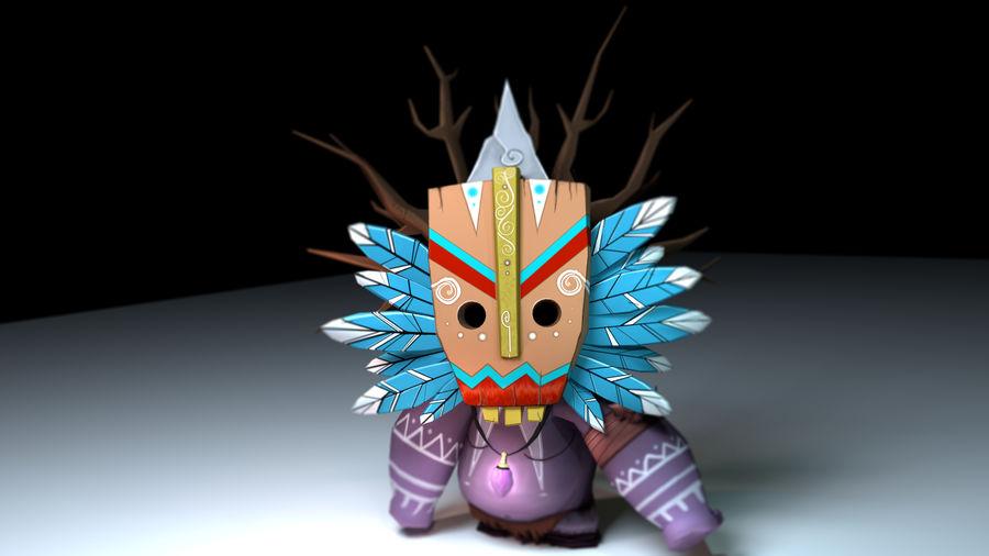 Низкополигональный персонаж (Rigged) royalty-free 3d model - Preview no. 5