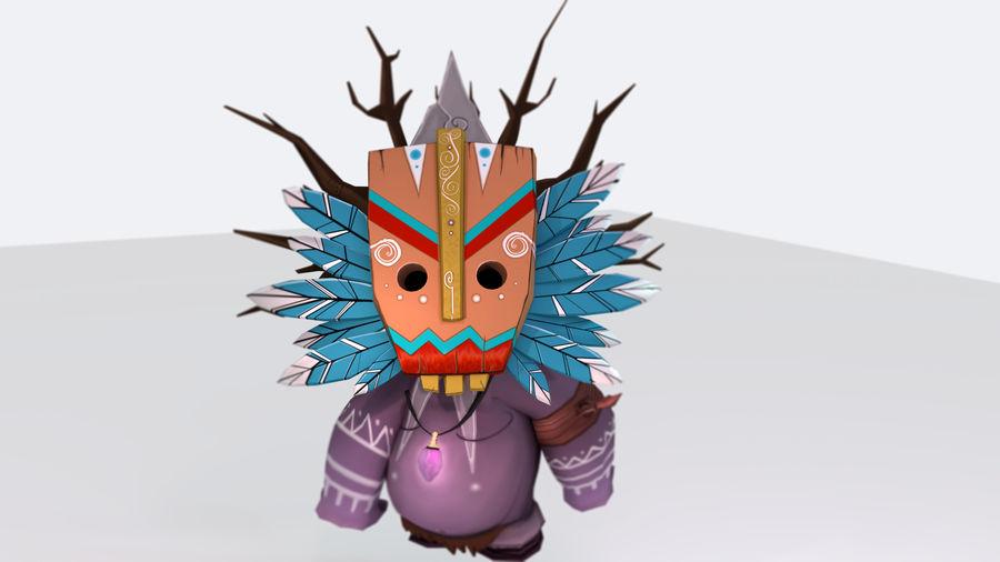 Низкополигональный персонаж (Rigged) royalty-free 3d model - Preview no. 7