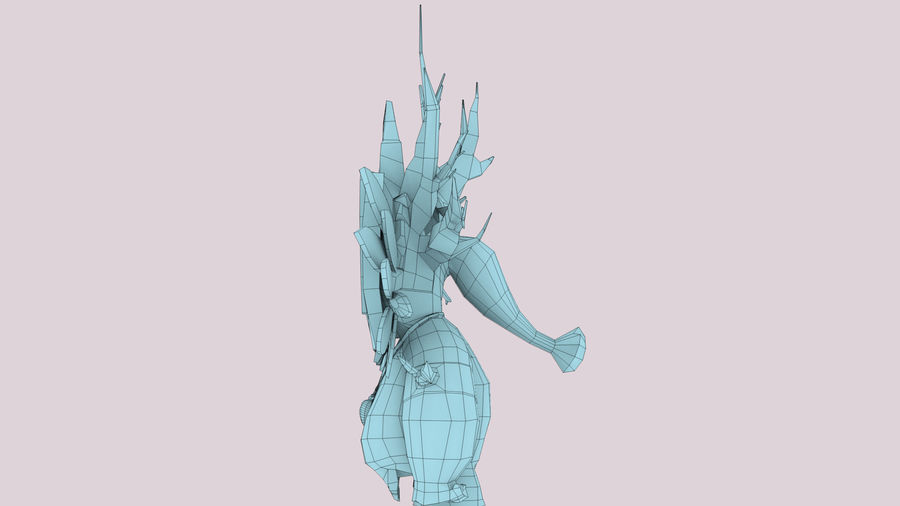 Низкополигональный персонаж (Rigged) royalty-free 3d model - Preview no. 12