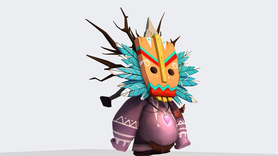 Низкополигональный персонаж (Rigged) royalty-free 3d model - Preview no. 1