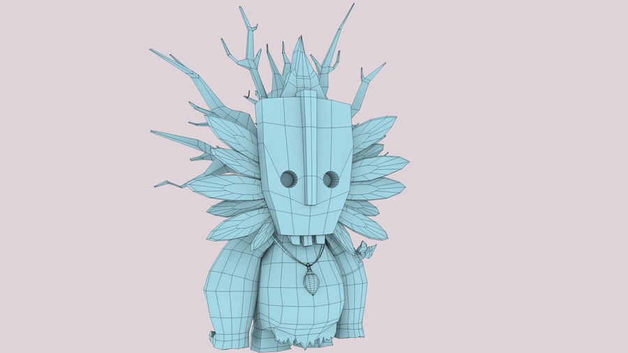 Низкополигональный персонаж (Rigged) royalty-free 3d model - Preview no. 14