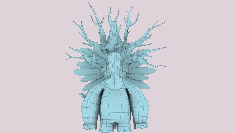 Низкополигональный персонаж (Rigged) royalty-free 3d model - Preview no. 13