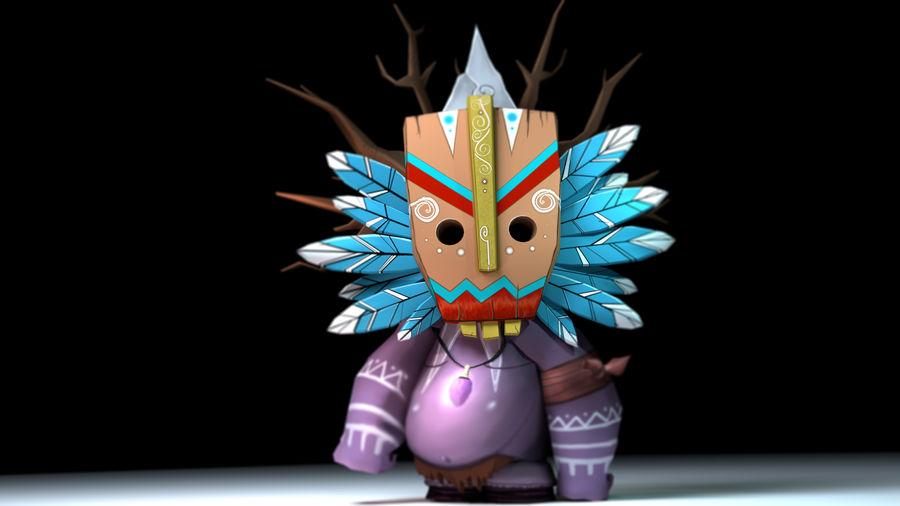 Низкополигональный персонаж (Rigged) royalty-free 3d model - Preview no. 3