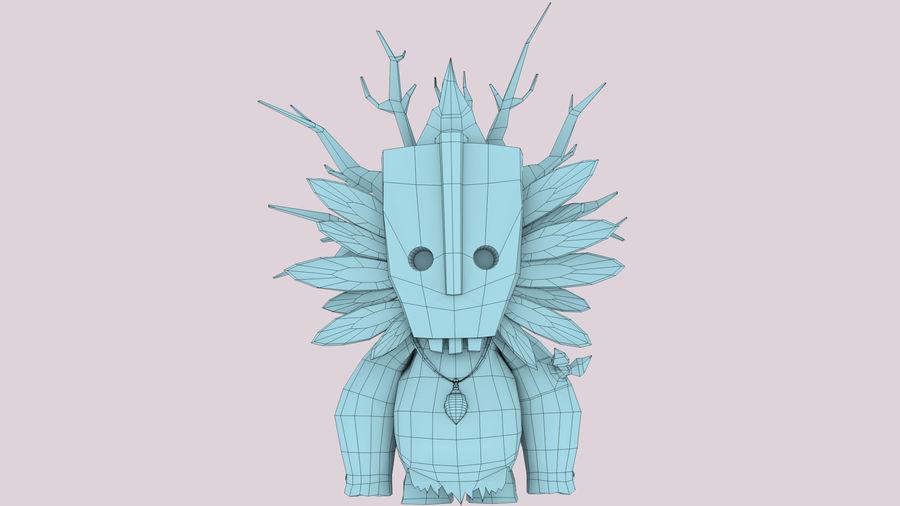 Низкополигональный персонаж (Rigged) royalty-free 3d model - Preview no. 11