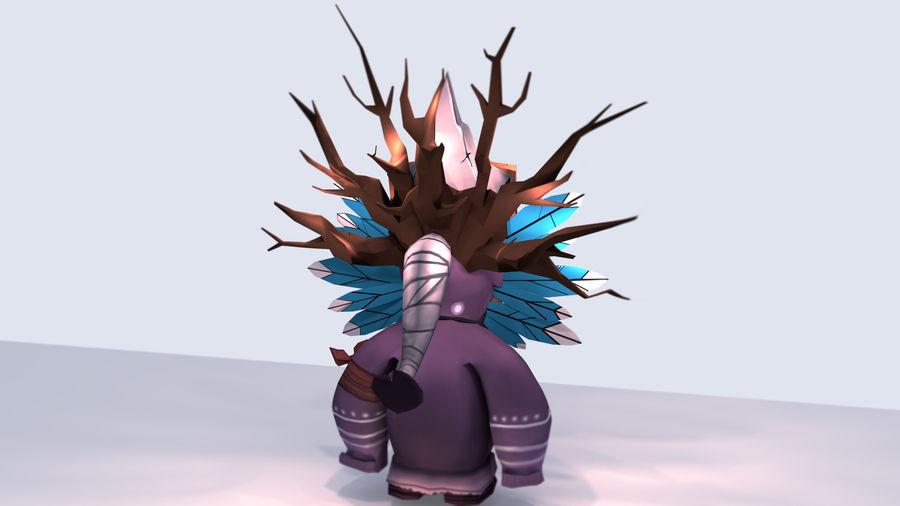Низкополигональный персонаж (Rigged) royalty-free 3d model - Preview no. 8