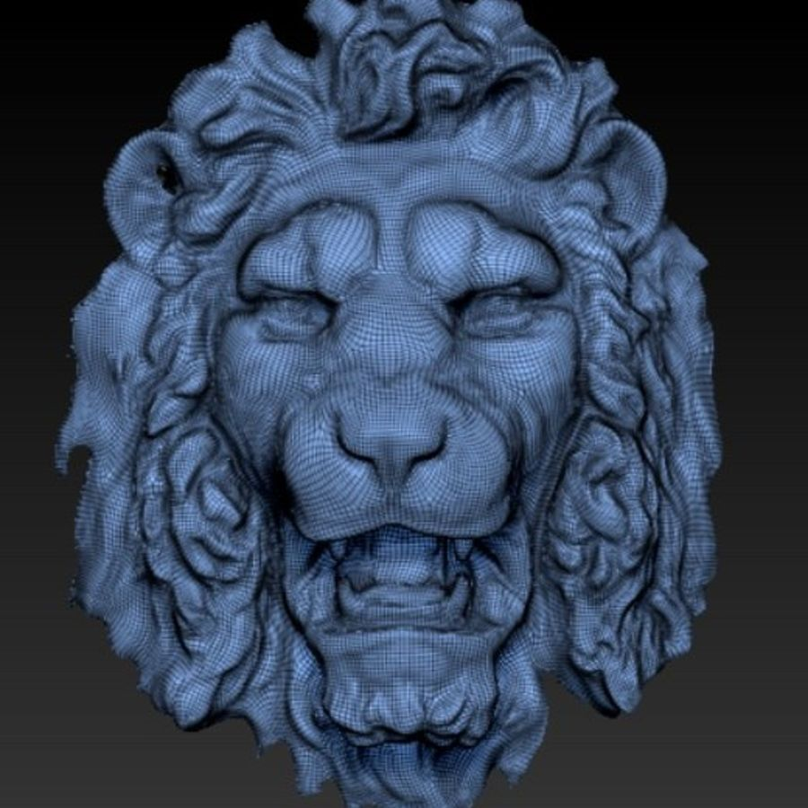 lion head royalty-free 3d model - Preview no. 1