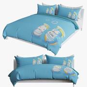 침대 키드 3d model