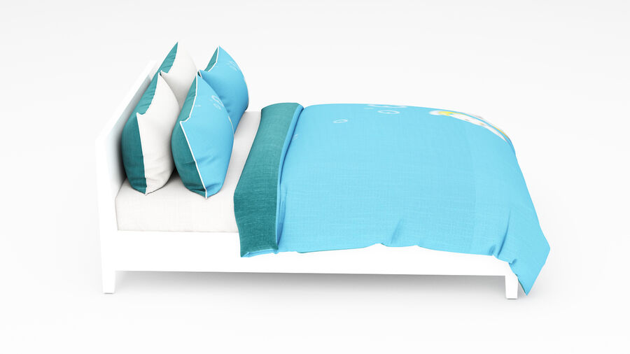 Bed Kid royalty-free 3d model - Preview no. 8