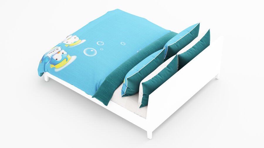 Bed Kid royalty-free 3d model - Preview no. 9