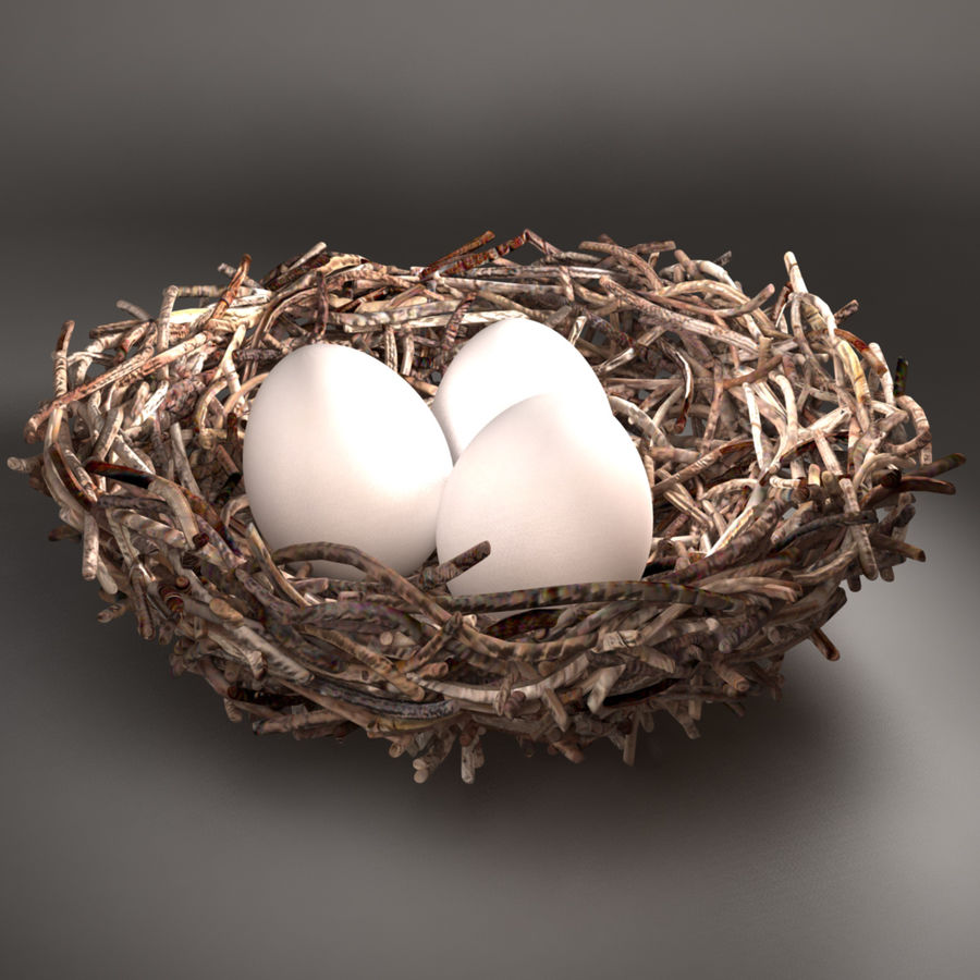 Bird Nest royalty-free 3d model - Preview no. 2