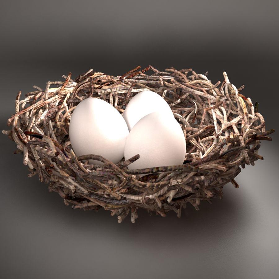 鳥の巣 royalty-free 3d model - Preview no. 2