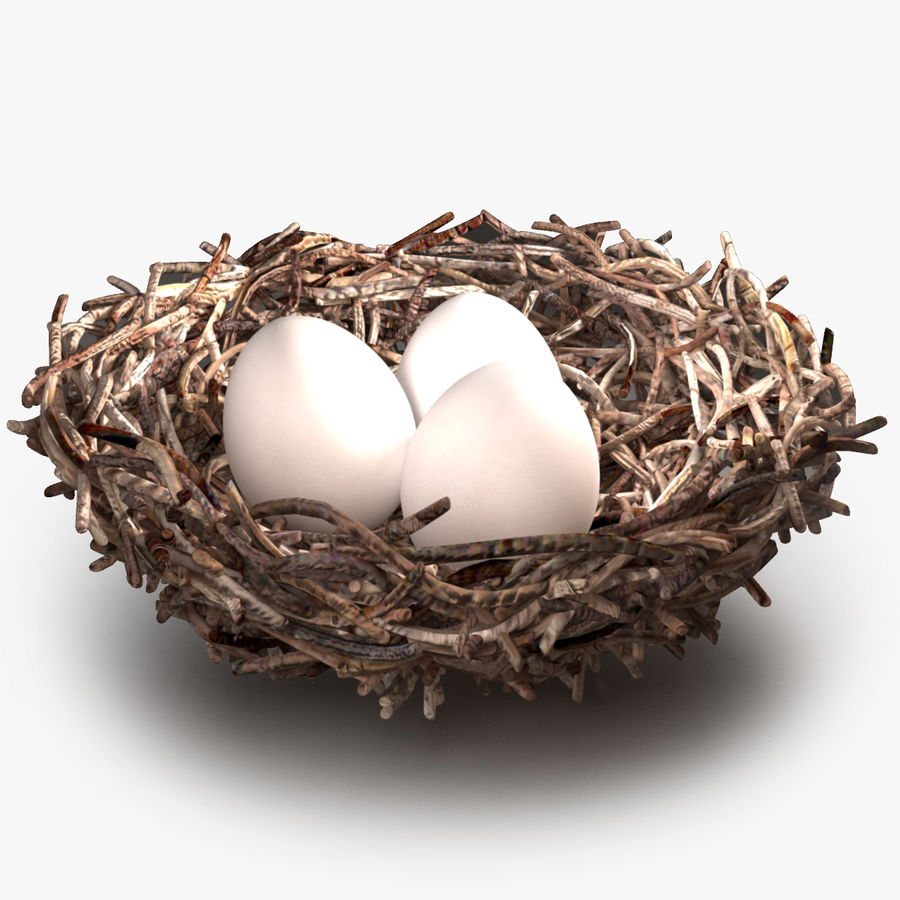 Bird Nest royalty-free 3d model - Preview no. 1
