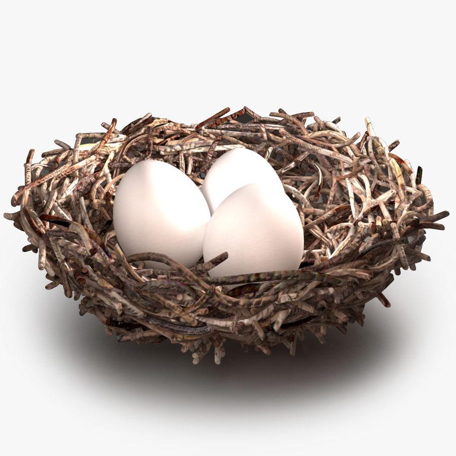 鳥の巣 royalty-free 3d model - Preview no. 1