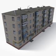 Lowpoly 동 유럽 건물 4 3d model
