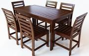 Outdoor Dining Set - 6 stolar 3d model