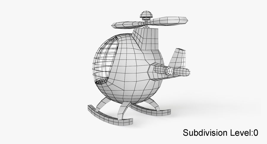 Helicopter royalty-free 3d model - Preview no. 10
