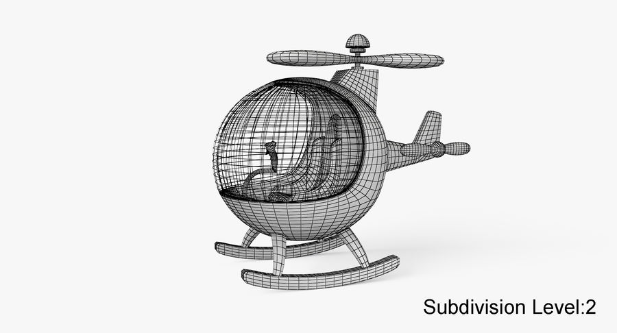 Helicopter royalty-free 3d model - Preview no. 12