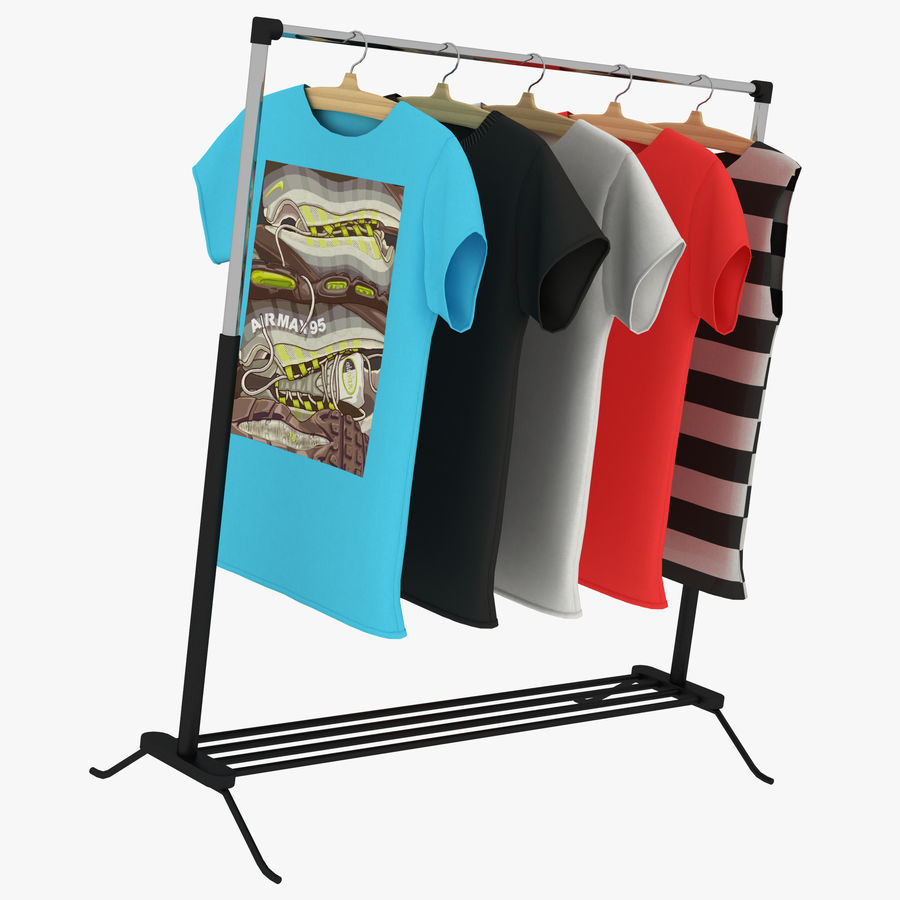 T-Shirt Nike mit Kleiderbügel Teil 2 royalty-free 3d model - Preview no. 6